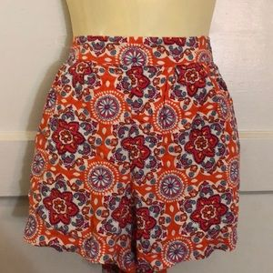 Mossimo Shorts Orange floral with POCKETS SZ S